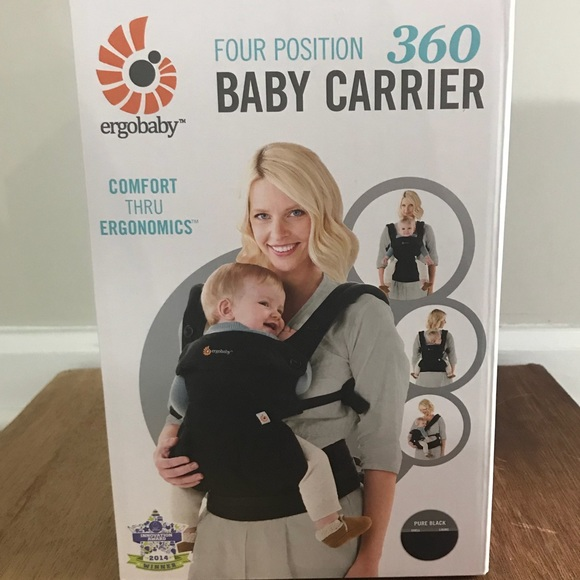 Ergo 360 Four Position carrier baby black New box